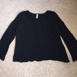 Target long sleeve flare black top